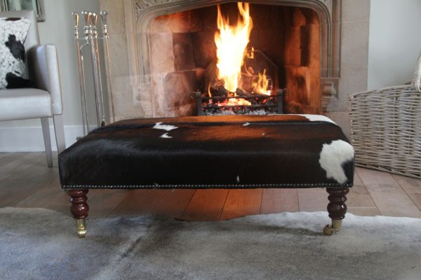 The Ultimate Footstool – The Cowhide Footstool